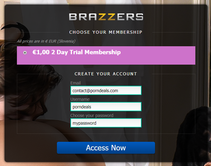 Brazzers free username password