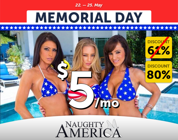 Porndeals: Naughty America Memorial Day Discount $5