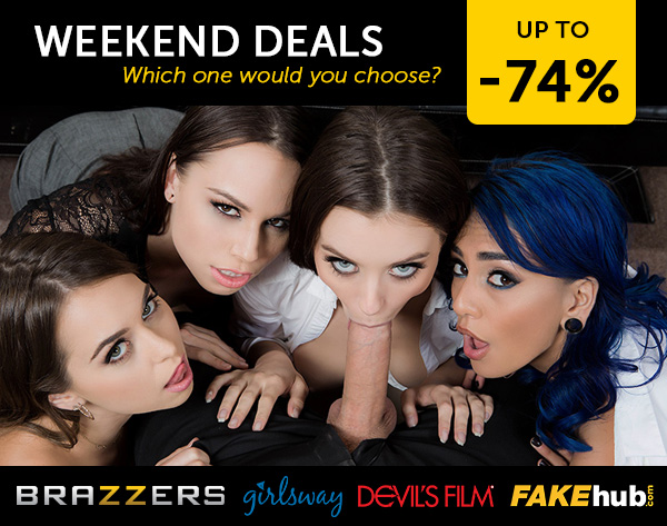 Porndeals: Weekend Porn Deals - Brazzers & 4 more discounts!